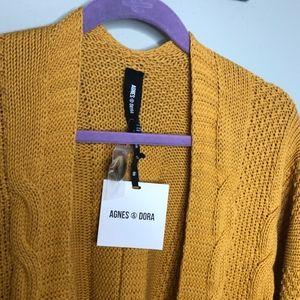 Agnes & Dora Sweaters - NWT golden yellow Agnes & Dora Boyfriend Cardigan